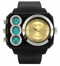 Silicone/Rubber Band Rectangle Adult Plastic Case Watches
