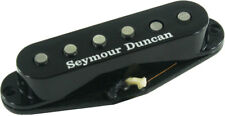 Seymour Duncan SSL-1 Vintage Alnico 5 Staggered Strat Pickup, RWRP, Black Cover