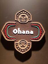 Disney polynesian resort Ohana Tiki sign painted finish