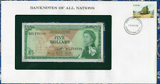 Banknotes of All Nations East Caribbean 5 Dollars 1965 AUNC P14h sign 10  D11*