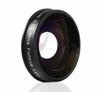 Opteka .2x Fisheye Lens for Canon Sony JVC 37mm Threaded Video Camera Camcorders