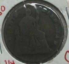 1860 Mexico 1/4 Real - Scarce Copper