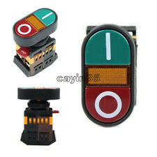 220V Start Stop Push Button Light Indicator Momentary Switch Power ON OFF UK