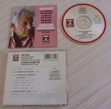 CD MILHAUD LEONARD BERNSTEIN LA CREATION DU MONDE LE BOEUF SUR LE TOIT 1987