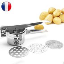 1x Presse Purée Manuel Moulin Inox Pomme De Terre Pressoir Avec 3 Tranche Maille