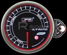 Prosport 52mm Smoked Stepper Motor Gauge Air Fuel Ratio White Blue Amber