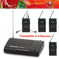 Takstar WPM-200 Wireless Monitor System In-Ear Stereo Transmitter&4 Receivers ZZ
