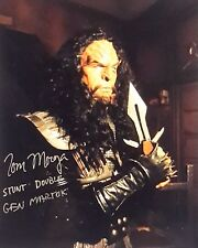 "Star Trek Deep Space 9 Autograph 8x10 Tom Morga-Stunt Double ""Martok"" (Lhau-875)"