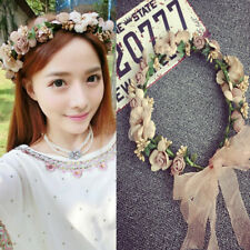 Beach Party Crown Bride Wedding Headband Boho Floral Headdress Flower Hairband