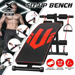 GEEMAX Sit Up Bench AB Abdominal Sit-ups Fitness Exercise Gym Home Training AU