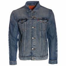 Mens Denim Jacket LEVIS Faded Blue Vintage Boyfriend Cotton Trucker Regular Fit