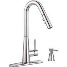 Premier Essen Single-Handle Pull-Down Kitchen Faucet With Soap Dispenser, Chrome