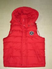 Abercrombie & Fitch Rocky Falls Sherpa Lined Hoodie Red Vest Sz M - NWT $150