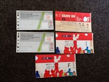 Job Lot x 5 Used ticket stubs Wales International  Rugby Union VGC