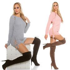 Maglione Donna Lungo MaliziOSA Maxipull Pullover Sweater Miniabito Ampio Sexy
