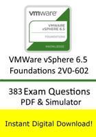 VMWare vSphere 6.5 Foundations 2V0-602 Exam (383 Questions PDF Sim->Email)