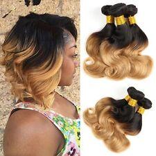 300g/3bundles ombre brazillian virgin human hair bodywave 10inches uk