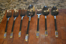 Lot of 7 Wallace 18/10 Golden Corsica Stainless silverware Gold elements