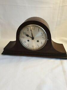 Antique 1930's 40s Haller Napoleon Hat Mantel Clock Striking Chime