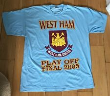 West Ham Play Off Final 2005 Rare Football Blue T Shirt X Large New