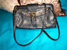 AUTHENTIC ISABELLA FIORE BLACK LEATHER CROSS BODY OR CLUTCH EXCELLENT CONDITION