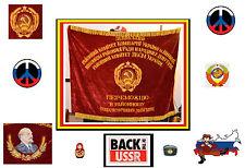 ORIGINAL VINTAGE. SOVIET RUSSIAN LENIN FLAG BANNER. HEAVY VELVET. USA SELLER.