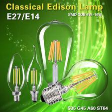 4W 8W 16W Vintage Stile Incandescenza Edison Filamento Lampadine E27/E14 Lampada
