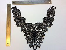 Neckline Collar Sew On Appliques Leaft Black Embellishments USA Fast Ship