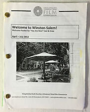 2012 You Are Here/ARE YOU HERE NC Piedmont Triad Film Commission Welcome Packet