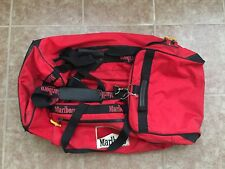EXTRA LARGE Red/Black Vintage 90's Marlboro Gear Rolling Duffle Bag with Wheels