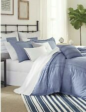 SOUTHERN TIDE COASTLINE COLLECTION COMFORTER SET FULL QUEEN SHAMS BAYVIEW BLUE