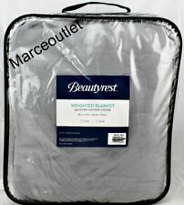 """Beautyrest Weighted Blanket Quilted Cotton 12 Lbs 60"""" x 70"""" Gray"""