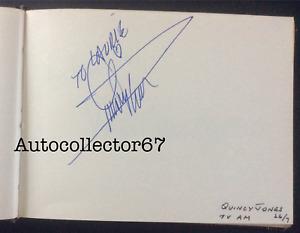 AUTHENTIC 1991 QUINCY JONES signed AUTOGRAPH book page