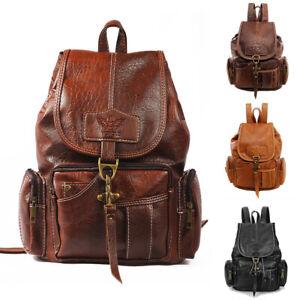 WomanVintagePU LeatherBags Backpack Travel DaypackSchoolBookbag Rucksack