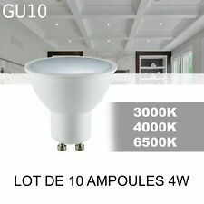 Lot de 10 ampoules LED FARI GU10 4W 120° 3000/4000/6500K 300lm  EDO