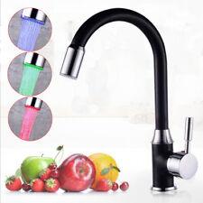 Messing LED RGB Küchenarmatur Beleuchtung Wasserhahn Einhebelmischer Armatur DHL