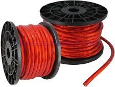 50FT 4GA 4AWG CCA Red Power Cable Wire Heat Resistance for Sound Car Audio AMP