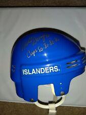 Mike Bossy New York Islanders Signed Auto Mini Helmet Cup Years Inscription