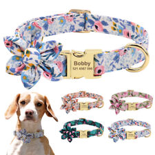 Personalized Dog Collar Nylon Engraved ID Tags Adjustable Collar & ID Nameplate