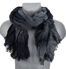Bufanda hombre negro gris de rayas de Ella Jonte bufanda viscosa nueva llegada