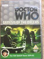 Doctor Who - The Genesis Of The Daleks (DVD, 2006, 2-Disc Set), Tom Baker