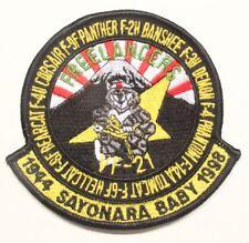 USN Navy patch:  Fighter Squadron 21 (VF-21) Sayonara Baby. 1998