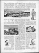 1885 Antique Print - MYANMAR Burma Li Hung Chang Lord Dufferin Mawlamyine (293)