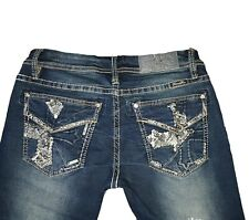 NEW - MISS ME Womens Mid-Rise Skinny Stretch Jeans - Sizes 29,30,31,32,33,34