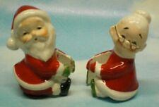 Vintage  000005A1 Set Santa & Mrs Clause Christmas Candle Climbers
