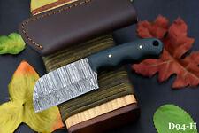 Custom Damascus Steel Skinning Hunting Knife Handmade,G-10 Micarta Handle (D94-H