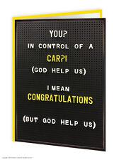 Driving Test Félicitations passé carte de vœux humour comédie amusant blague