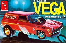 "AMT Chevy Vega Van Funny Car ""Vegabond"" Box Art Bumper Sticker or Fridge Magnet"