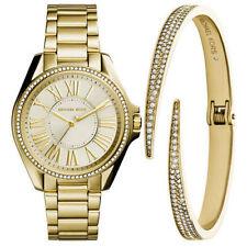 "Michael Kors MK3568 ""Kacie"" Gold-Tone Watch and Bracelet Gift Set Watch"