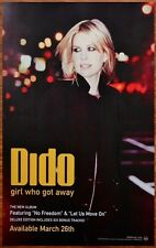 DIDO Girl Who Got Away Ltd Ed Discontinued New RARE Poster +FREE Pop Rock Poster